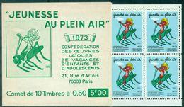 FRANCE Vignette Carnet Jeunesse Au Plein Air 1973 Neuf Xx Enfants Et Insectes Tb - Erinnofilia