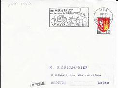 LOIR ET CHER 41  --  MER   - FLAMME N° 1455  -  DE MER A TALCY / SUR LES PAS DE RONSARD  -  1964 - - Marcofilia (sobres)