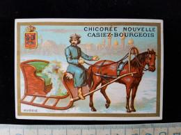 """Chromo Illustré  Pub, """"Chicorée Nouvelle Casiez  Bourgeois """" - Poulain"""