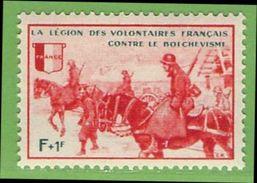 MiNr.VIII.xx Deutschland Besetzte Gebiete II.WK Franz Legion Vignette - Occupazione 1938 – 45