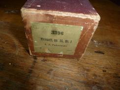 Rouleau Ancien P.piano Mécanique 3396 Menuett Op. 14, Nr 1,  J.J. Paderewski --Musikalische Rechte Lizen Marke - Other Products