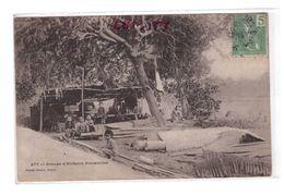 Viet Nam Vietnam Indochine Groupe D' Enfants Annamites Cpa Edit Planté Timbre + Cachet 1908 Correspondance Intéressante - Viêt-Nam