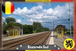 Postcard, REPRODUCTION, Gares En Belgique Series, Gares Région Flamande, Province De Flandre-Orientale, Baasrode-Sud - Landkarten