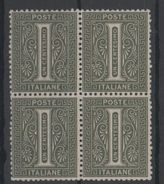 1863 De La Rue I 1 C. MNH Quartina Ottima Centratura +++ - 1861-78 Vittorio Emanuele II