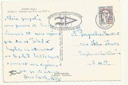 THEME SPORT  SKI NAUTIQUE CHAMPIONNAT  DU MONDE SEPTEMBRE 1963 à VICHY OBLITERATION SUR  CARTE POSTALE - Water-skiing