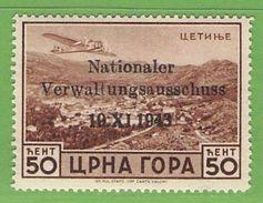 MiNr.15 Xx  Deutsches Reich Montenegro - Occupation 1938-45