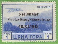 MiNr.16 Xx  Deutsches Reich Montenegro - Occupation 1938-45
