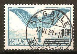 Zu 22 / Mi 320 / YT 25 Obl. ST GALLEN 12.6.39 LUXE LP Voir Description - Poste Aérienne