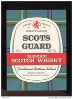 Etiquette Scotch  Whisky    -   Scots Guard  -  Ecosse - Whisky