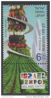 ISRAEL , 2015, MNH, MILAN EXPO, FILEDS OF TOMORROW, VEGETABLES, PLANTS, CARROTS, PEPPERS, EGGPLANTS, 1v - Vegetables