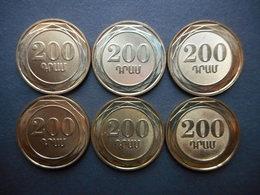 Armenia 200 Dram 2014 (Lot Of 6 Coins) - Armenia