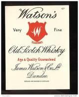 Etiquette De Scotch  Whisky  -  Watson's  -  Ecosse - Whisky