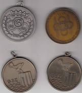 Zwemmen Zwemsport 4 Medailles GSZ Wisselbeker Hugo Van Rompaey, Vlaams Nationaal Kampioenschap 1989-1990 - Belgium