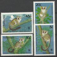 Tanzania 1989 Endangered Bushbabies Set Of 4 MNH - W.W.F.