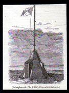 1842  --  SEMAPHORE DE L ILE D AIX   CHARENTE INFERIEURE    3N229 - Ohne Zuordnung