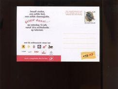 Belgie Carte Postale ZWALUW 3266 0.44€ Andre Buzin Birds RR NEDERLANDS / CARTE JAUNATRE - 1985-.. Oiseaux (Buzin)