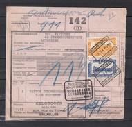 Fragment Met Stempel Schaerbeek Schaarbeek M.2 Gewicht Bevonden Schaerbeek - 1942-1951
