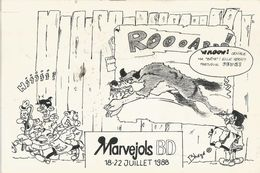 MARVEJOLS, Carte Du Festival  De La BD De Juillet 1998 - Marvejols