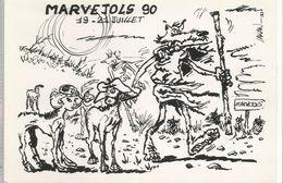 MARVEJOLS, Carte Du Festival  Jazz Et BD De Juillet 1990 - Marvejols