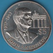 NIUE 5 DOLLARS 1992  KM# 76 JOHN F. KENNEDY Argent / Silver 500‰ - Niue