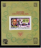 Centraal-Afrikaanse Rep. 1978 Mi Nr  Blok 43 , Sir Rowland Hill, Stamp On Stamp,  Postkoets - Centraal-Afrikaanse Republiek