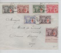 TP 394/400 Antituberculeux 'Chevalier' C.Liège 5/12/1934 V.E/V PR5006 - Covers & Documents