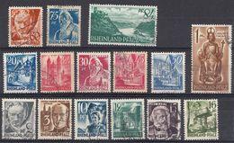 RHEINLAND/PFALZ - GERMANIA - 1947/1948 -  Serie Completa Formata Da 15 Francobolli Usati, Yvert 1/15 - Französische Zone