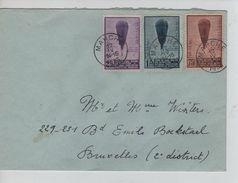 TP 353-354-355 Ballon Piccard S/L.c.Marche 12/4/1933 V.Bld Emile Bockstael BXL 2° District PR5010 - Covers & Documents