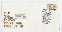 1982 TILE HILL WOOD SCHOOL Jubilee EVENT COVER Coventry  To Flecthamstead Police Station, Stamps Gb - 1952-.... (Elizabeth II)