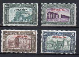 1930 Cirenaica  Milizia III N. 68 -71 Completa Nuova MLH* Sassone 320 Euro - Cirenaica