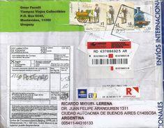 Uruguay 2008 Montevideo Peanut Vendor Train Loc Registered Cover - Uruguay