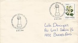 Argentina 1984 Zamora 4th Youth Chess World Cup Handstamp Cover - Schaken