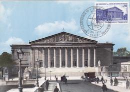 Carte-Maximum FRANCE N° Yvert 1688 (PALAIS BOURBON) Obl Sp Ill Conférence - 1970-79