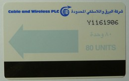 YEMEN - Autelca - Magnetic - Cable & Wireless - Light Blue - 80 Units - 1985 - Larger Numbers - Used - Yemen