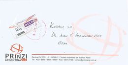 Argentina 2017 Buenos Aires OCA 100g Barcoded Private Stamp Cover - Frankeervignetten (Frama)
