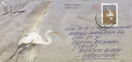 South Africa 2010 Westgate White Egret Postage Paid Aerogramme To Argentina - Luchtpost