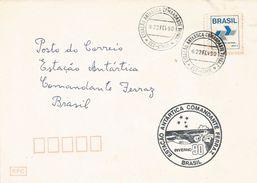 Brasil Brazil 1990 Commandente Ferraz Antarctica Station Cover - Onderzoeksstations