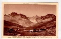 CP 9*14-TEC524-COL DU GLANDON AIGUILLES DE L ARGENTIERE BEC D ARGUILLE CIME DE SAMBUIS VUS DU COL DE LA COIX DE FER - Autres Communes