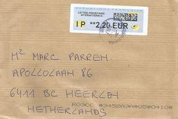 France 2017 Avions En Papier Post Office IP QR Code Meter Franking Cover - 2000 «Avions En Papier»