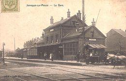 Jemeppe-sur-Meuse - La Gare (animée, Edit Th. Lequarré, 1908) - Seraing