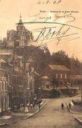 Thuin - Avenue De La Gare (Ouest) (animée, Vue Verticale Peu Vue, 1908) - Thuin