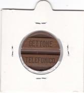 ITALIA GETTONE TELEFONICO AZIENDA TETI  ANNO 1945  COME DA FOTO - Italia