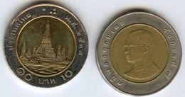 Thaïlande Thailand 10 Baht 2537 ( 1994 ) KM 227 - Thaïlande