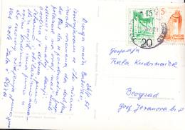 PPC WITH RAILWAY CANCEL 20 TITOVO UZICE-BEOGRAD - 1945-1992 Socialist Federal Republic Of Yugoslavia