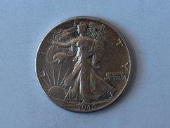 Etats-Unis, United States, USA - Half 1/2 Dollar 1945 P Liberty Walking - Silver, Argent - 1916-1947: Liberty Walking