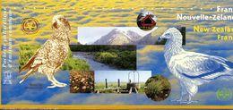 France. Emission Commune France/nouvelle Zelande.oiseaux Menaces. Annee 2000. - Sheetlets