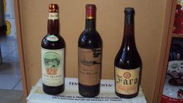 NR. 3 VECCHIE BOTTIGLIE DI VINO ANNI 60 O 70 DA NON BERE SOLO PER COLLEZIONE SPEDIZIONE PACCO CELERE 3 - Wine
