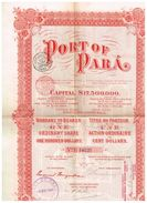 Action Ancienne - Port Of Para - Titre De 1906 - Transporte
