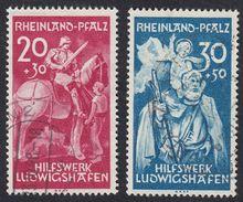 RHEINLAND/PFALZ - OCCUPAZIONE FRANCESE GERMANIA - 1948 - Serie Completa Usata Yvert 39/40. - French Zone