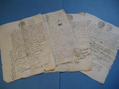 LOT DE 4 CERTIFICATS DE RESIDENCE & NON EMIGRATION SIEUR DELISLE DE BOULIEU REVOLUTION ISERE 1793 Signé - Documentos Históricos